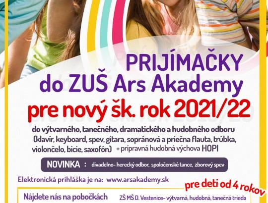 Prijímačky pre školský rok 2021/2022