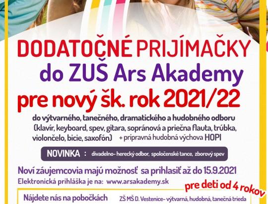 Dodatočné prijímačky pre nový školský rok 2021/2022 už od 30.augusta 2021